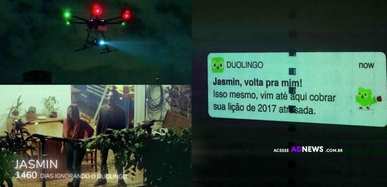 Duolingo criou a maior notificação push do mundo com drone