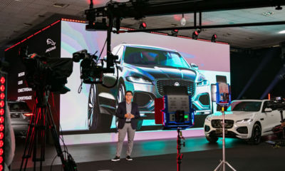 Novo Jaguar F-Pace é lançado em grande estilo usando a tecnologia de O Cubo, da Studios Apple Fecomercio