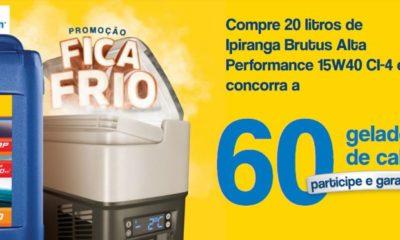 Promoção Fica Frio com Ipiranga Brutus vai sortear 60 geladeiras cabine para caminhoneiros em todo Brasil