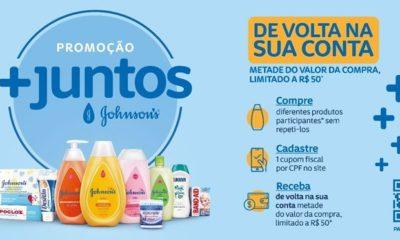 Promoção +Juntos de JOHNSON'S®️ dará até R$ 50 de cashback