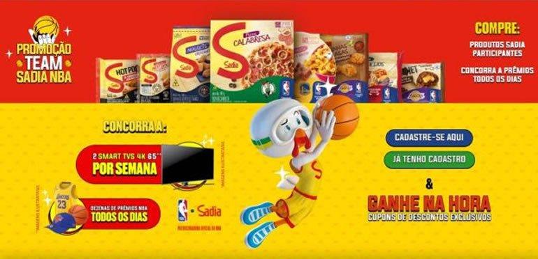 Sadia lança plataforma interativa para os Playoffs e Finais da NBA