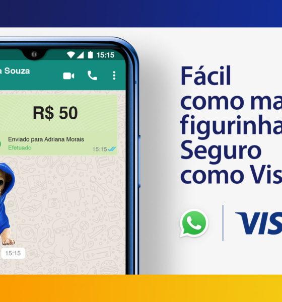 Campanha da Visa usa figurinhas para reforçar praticidade e segurança no pagamento no WhatsApp