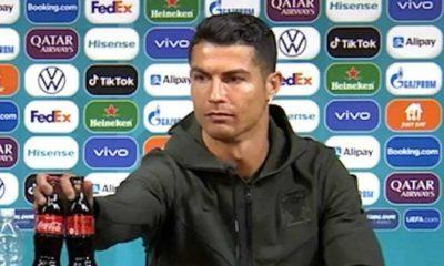 Coca-Cola tem queda de US$ 4 bi por gesto de Cristiano Ronaldo