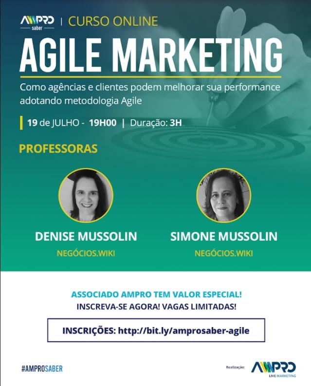 Agile Marketing para agências e clientes é tema de curso da AMPRO Saber