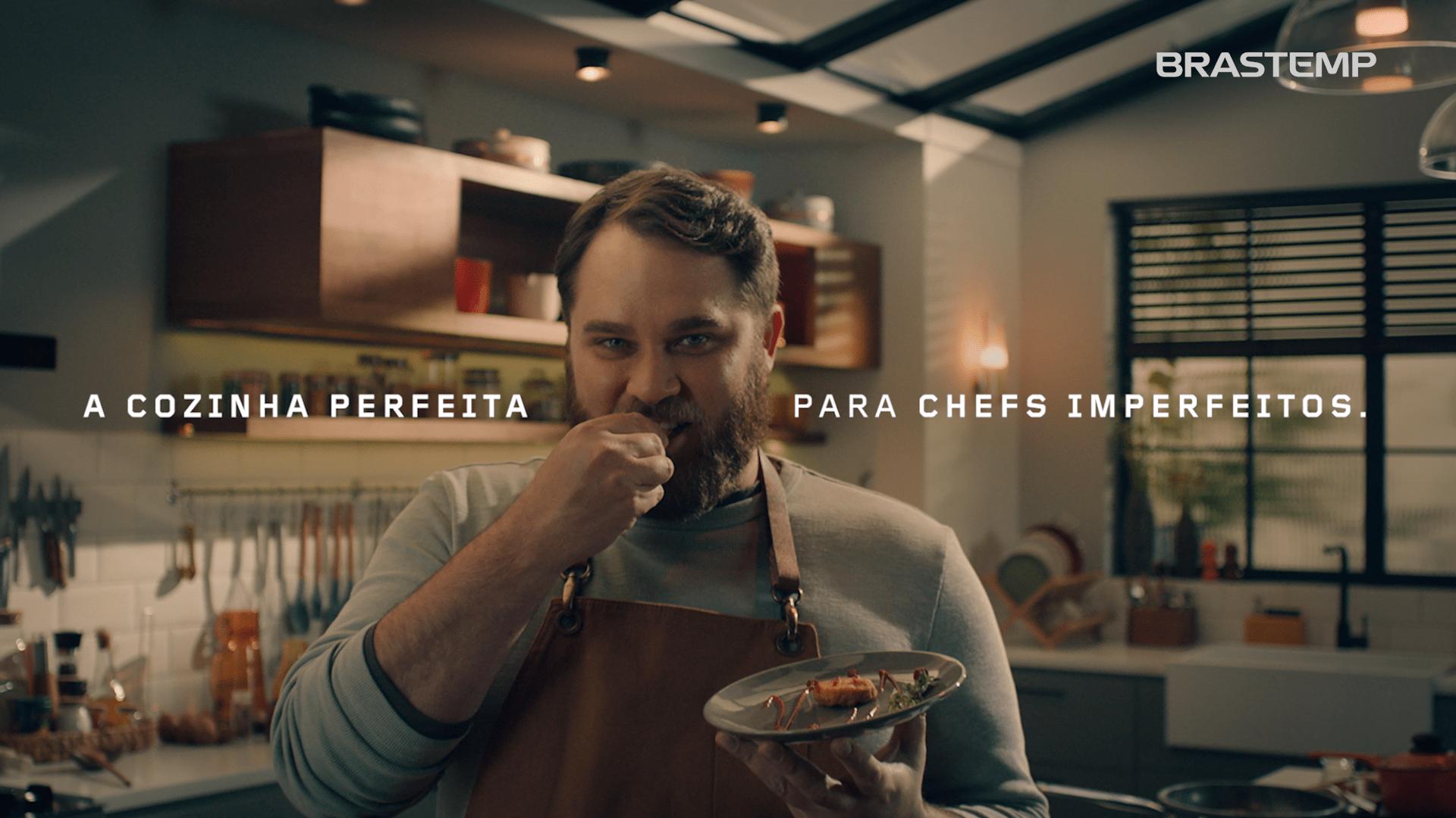 Brastemp lança nova campanha e incentiva o consumidor a 'ser o chef que quiser ser'