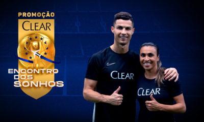 """Clear leva fãs para conhecerem Marta e Cristiano Ronaldo com a promoção """"Encontro dos Sonhos"""""""