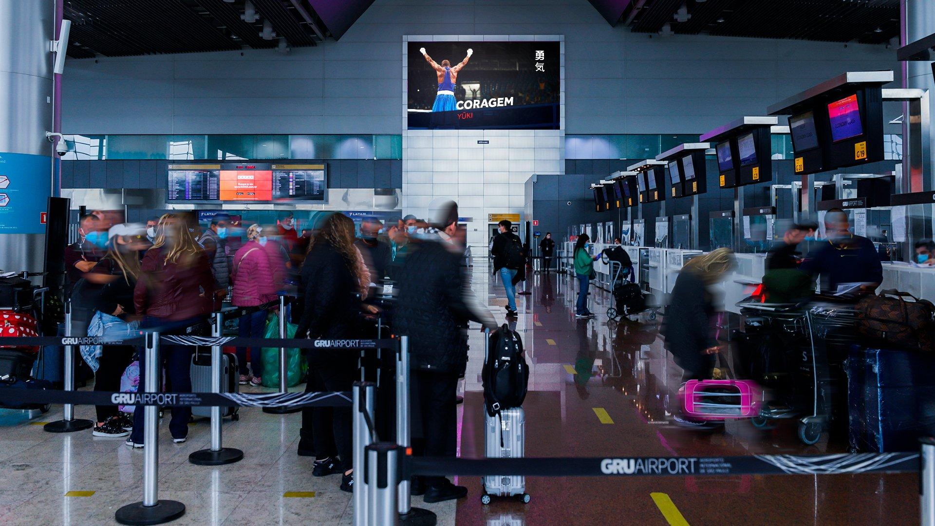 Comitê Olímpico do Brasil, JCDecaux e GRU Airport se unem em campanha para apoiar atletas brasileiros