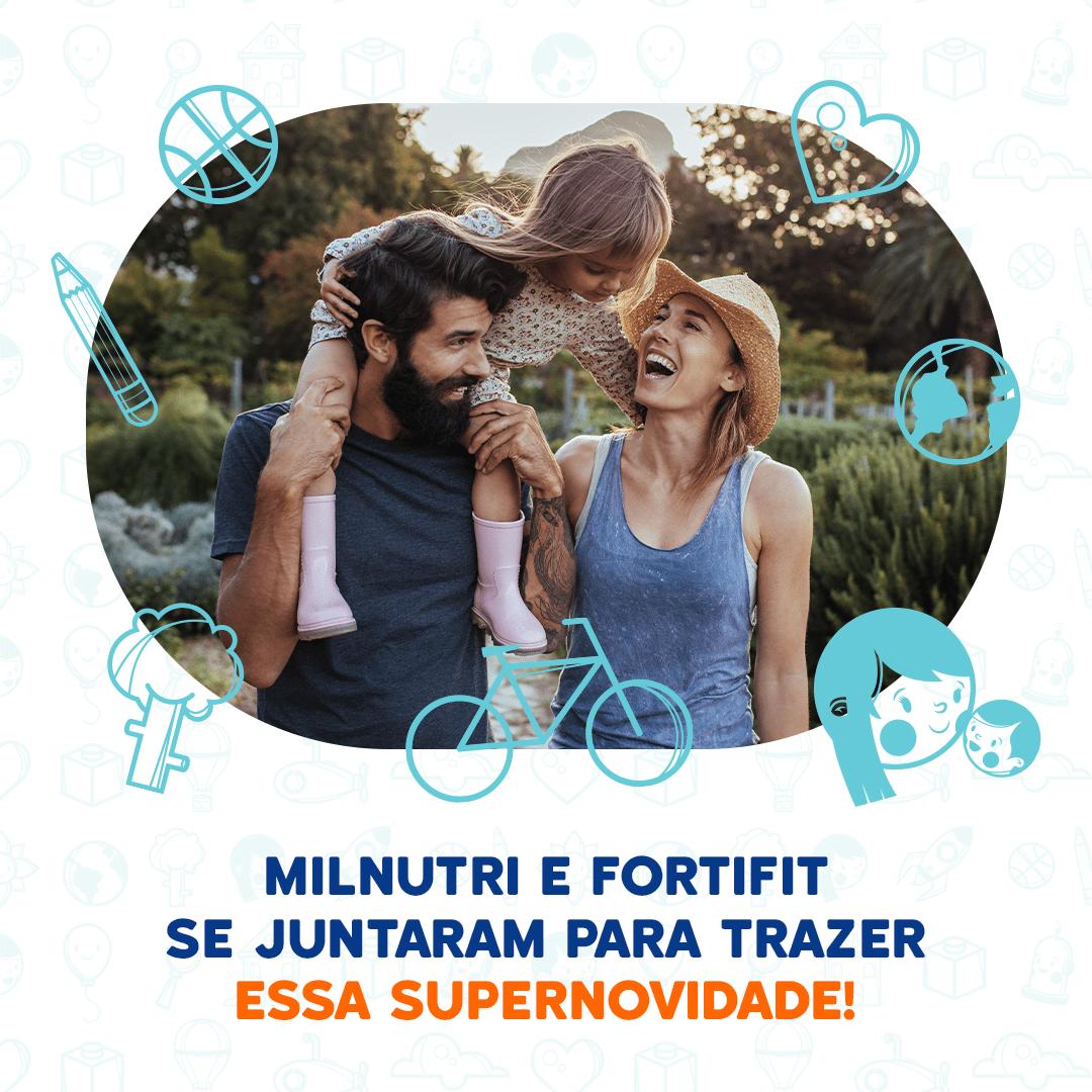 Danone une Milnutri e Fortifit em ação para celebrar os momentos em família