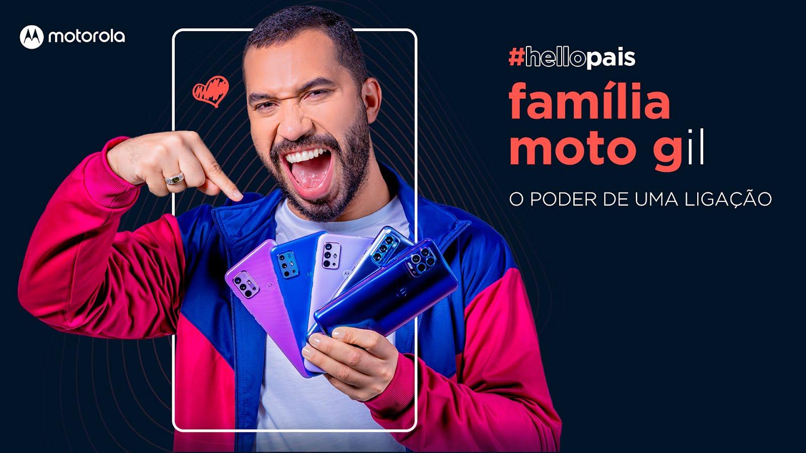 Gil do Vigor estrela campanha de Dia dos Pais da Motorola