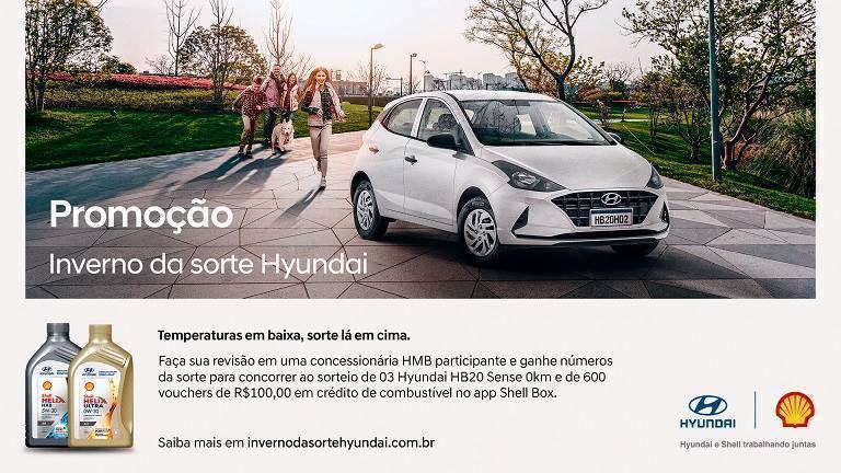 Hyundai lança promoção que vai sortear três HB20 zero-quilômetro