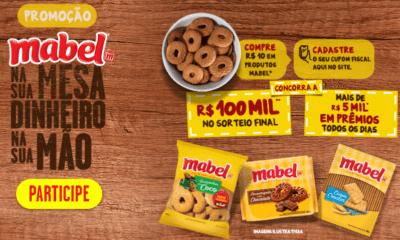 MABEL® lança promoção que oferece mais de 5 mil* de reais por dia em prêmios para os consumidores