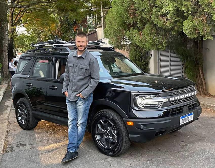 Rodrigo Hilbert é o embaixador do Ford Bronco Sport no Brasil