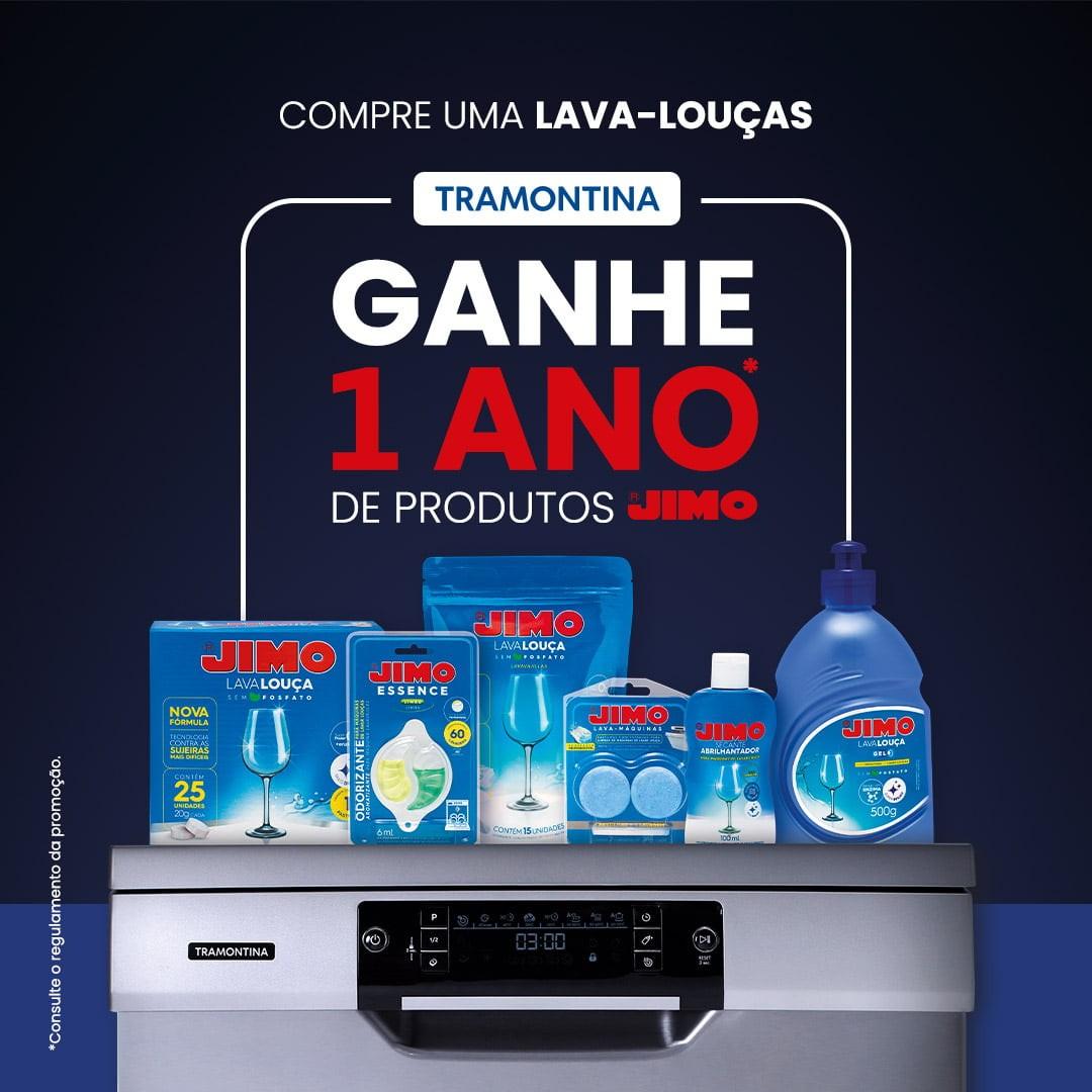 Tramontina e Jimo oferecem 1 ano de insumos grátis na compra de uma Lava-Louças nas lojas oficiais T store