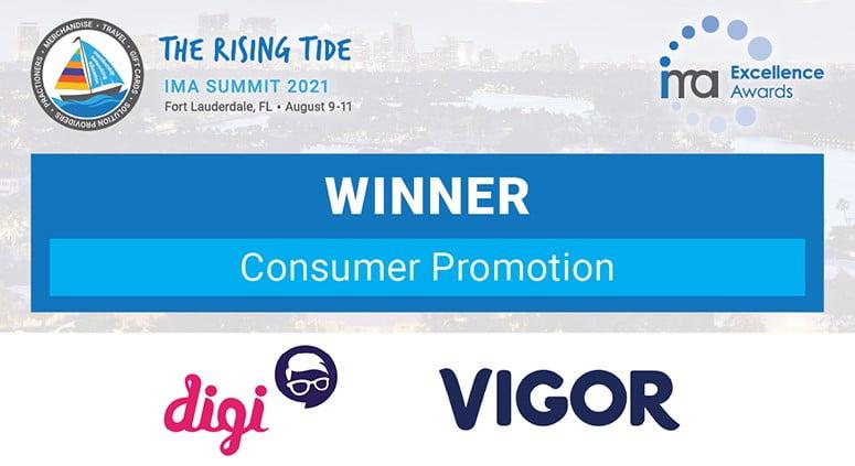 Digi conquista prêmio internacional IMA Summit Awards 2021 com promoção para Vigor Grego