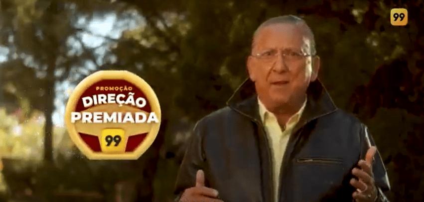 Galvão Bueno estrela campanha que dará R$ 1 milhão em prêmios para motoristas de app