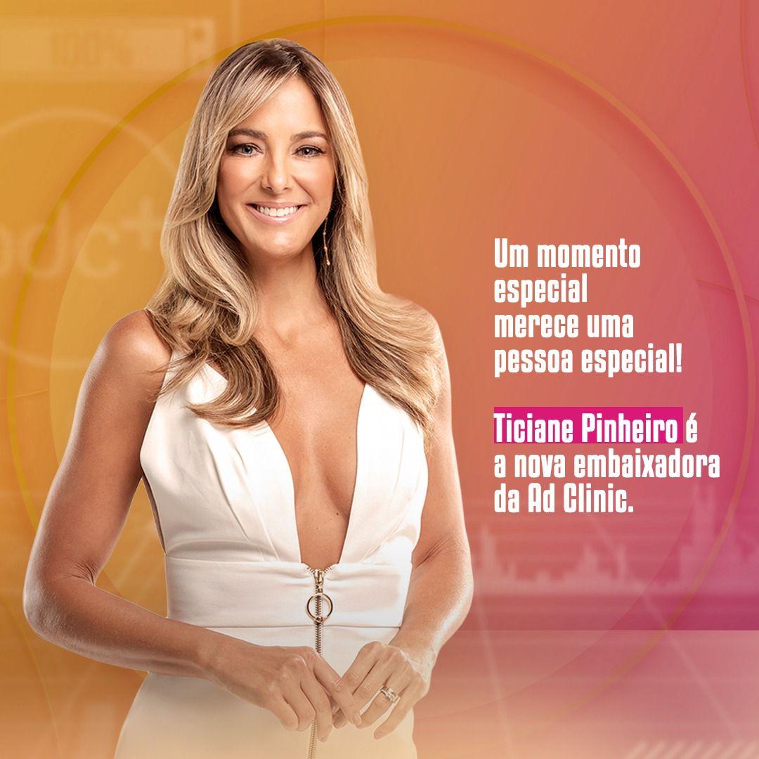 Ticiane Pinheiro é a nova embaixadora da rede de franquias Ad Clinic