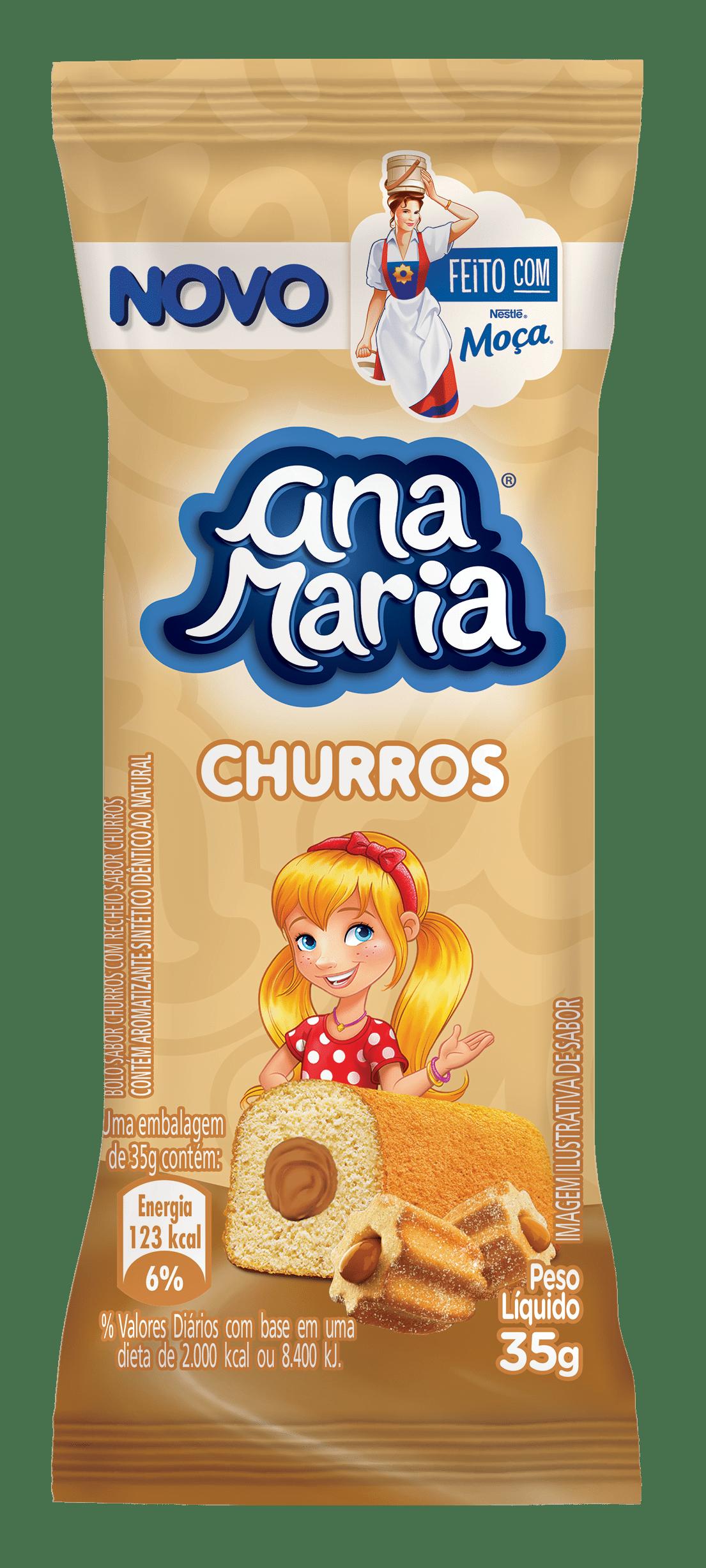Ana Maria apresenta campanha de lançamento dos novos bolinhos sabor churros em parceria com Leite Moça® da Nestlé
