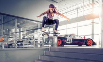 Leticia Bufoni faz tour radical na sede da McLaren