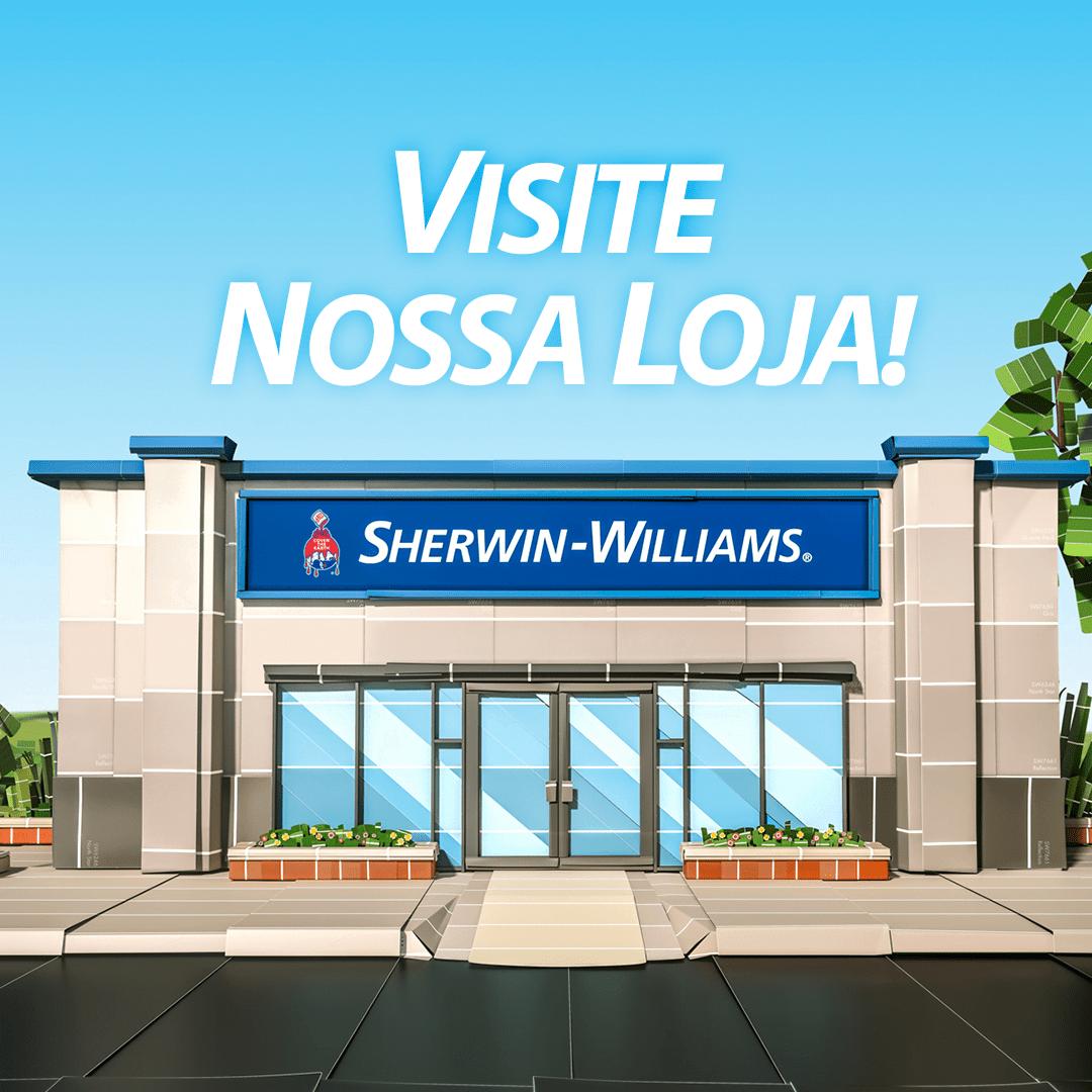 Lojas arquitetônicas da Sherwin-Williams promovem descontos de até 20% em tintas