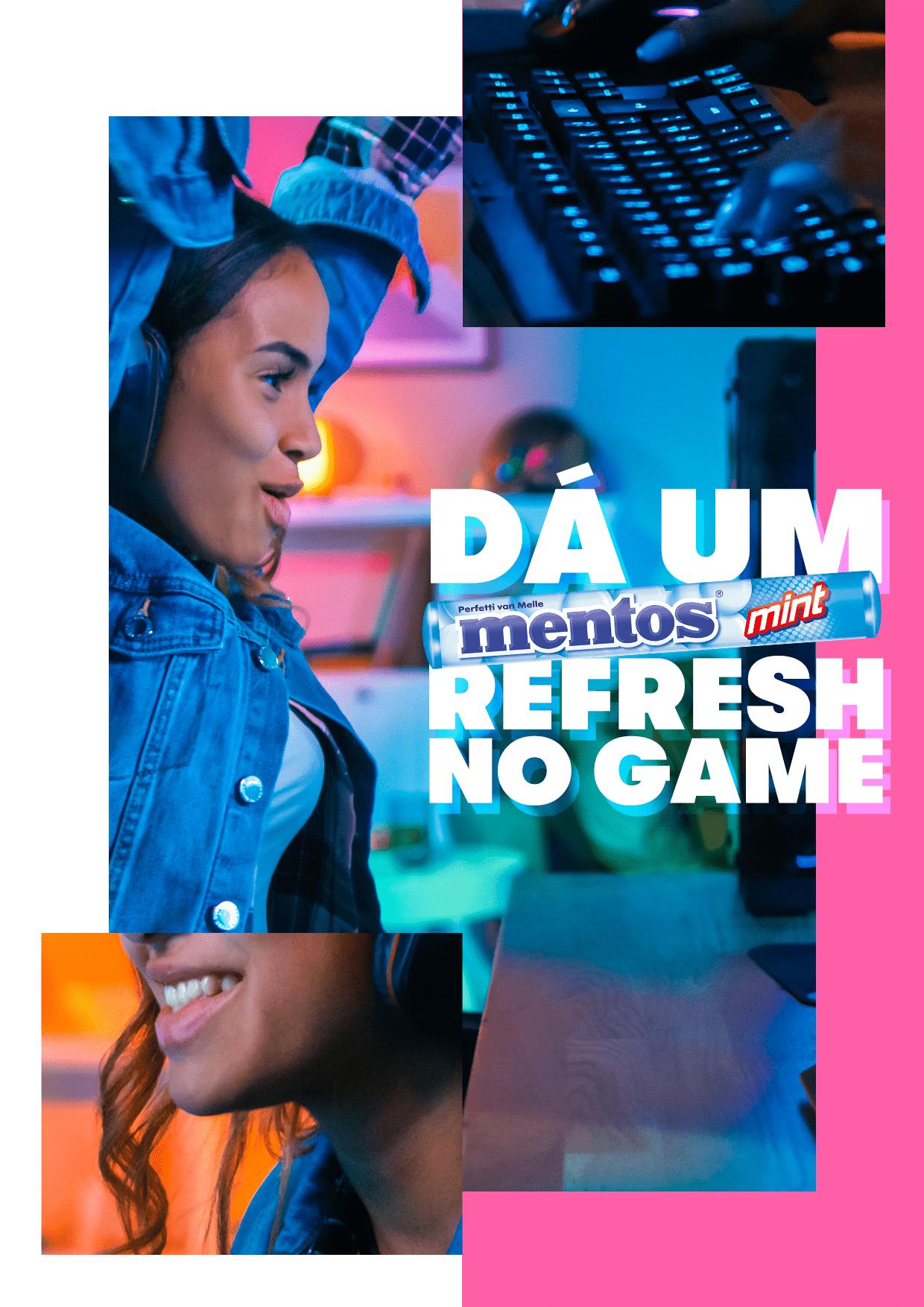 Mentos dá um refresh no mundo dos games e impulsiona a diversidade entre os streamers