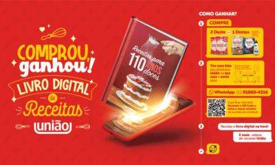 """União lança promoção """"comprou, ganhou"""" com seu icônico livro de receitas, agora em versão digital"""