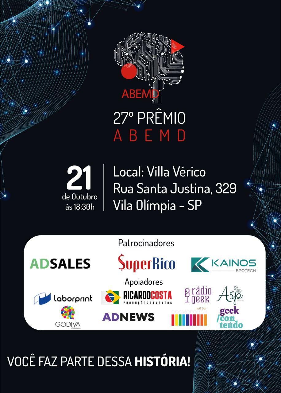 27º Prêmio ABEMD valida a importância dos dados na comunicação de clientes, anunciantes, agências e outras indústrias