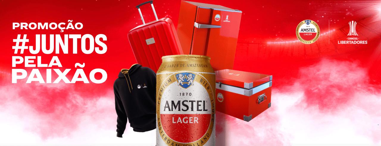 Amstel lança promoção #JuntosPelaPaixão com milhares de prêmios instantâneos e temáticos da Conmebol Libertadores