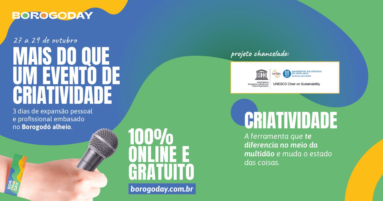 Borogoday: Evento de criatividade será gratuito e online
